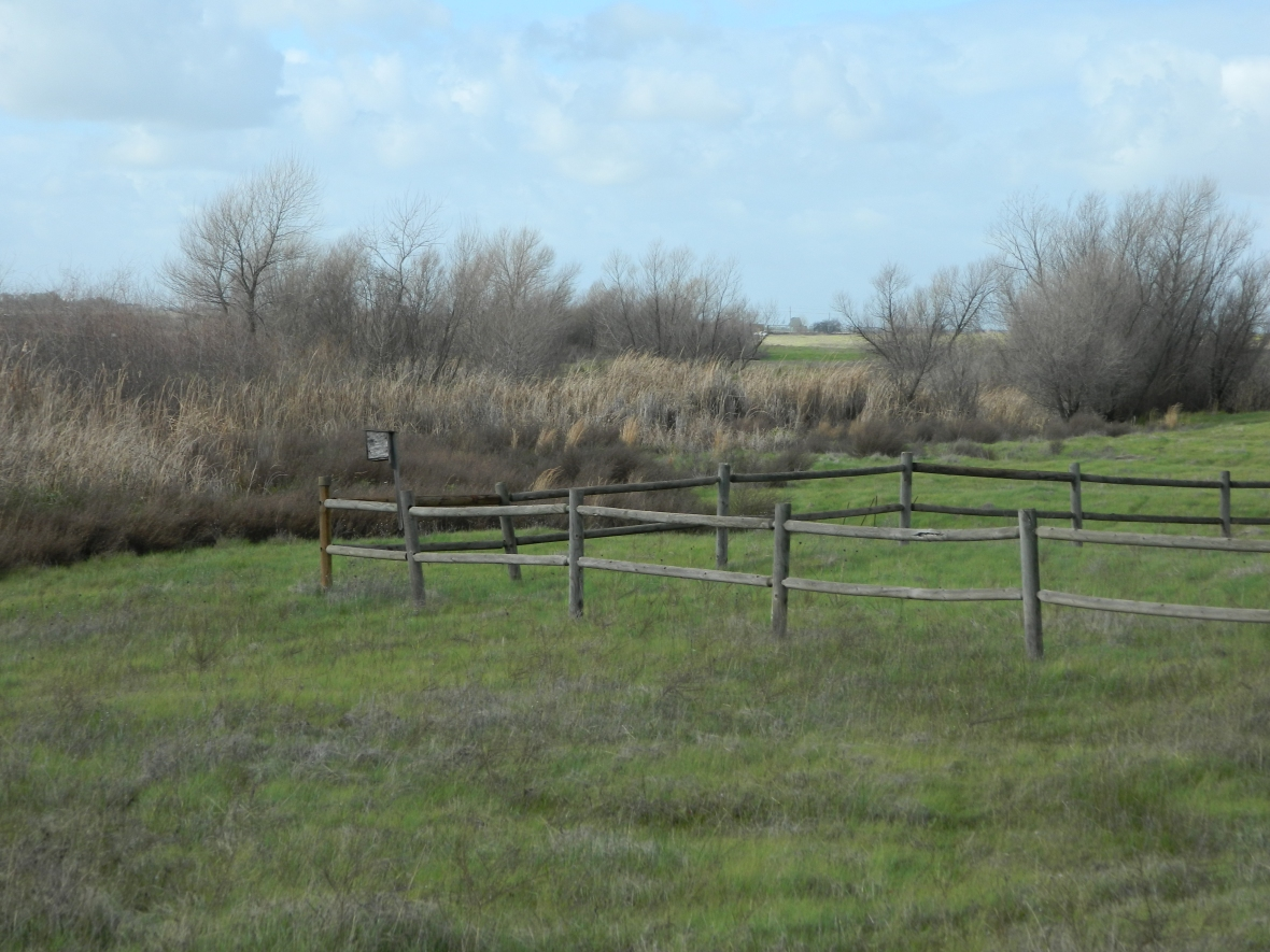 Picture of a worn wooden fence set in the county