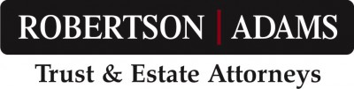 Logo for Robertson Adams, Trust and Estate Attorneys
